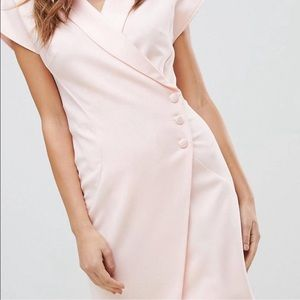 Wrap Front Pink Dress